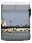 Bridges Over The Seine And Conciergerie - Paris Duvet Cover