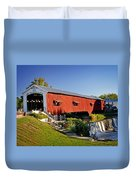 Bridgeton Covered Bridge 3 Duvet Cover