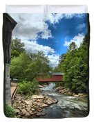 Bridging Slippery Rock Creek Duvet Cover