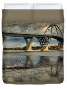 Bridging Vermont And New York Duvet Cover