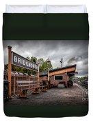 Bridgnorth Railway Station Duvet Cover