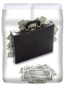 Briefcase Stuffed With Dollar Bills Duvet Cover