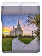Brigham City Sunset Duvet Cover
