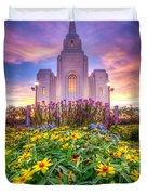 Brigham City Temple Duvet Cover