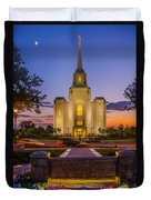 Brigham City Temple Moon N Stars Duvet Cover