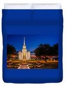 Brigham City Temple Twilight 1 Duvet Cover