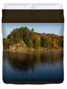 Bright And Sunny Autumn Reflections Duvet Cover