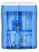 Bright Blue Door Duvet Cover