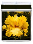 Bright Bright Spring Yellow Iris Flower Fine Art Photography Print  Duvet Cover