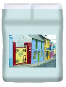 Bright Buildings In Ireland Duvet Cover
