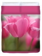 Bright Bunch Of Tulips Duvet Cover by Mike Reid