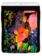 Bright Colorful Leaves Vertical Duvet Cover