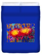 Bright Colorful Mums Duvet Cover