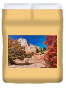 Bright Fall Colors At Zion Duvet Cover