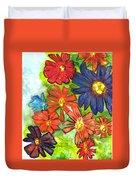 Bright Flower Bunch Duvet Cover