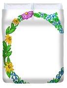 Bright Fun Colorful Hand Drawn Monogram C Duvet Cover
