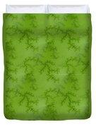 Bright Green Fractal Duvet Cover