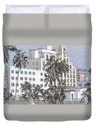 Bright Light Miami Beach Duvet Cover