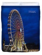 Bright Night Ferris Wheel Duvet Cover by Stwayne Keubrick