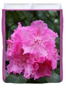 Bright Pink Blossoms Duvet Cover