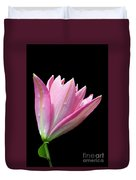 Bright Pink Trumpet Lily  Duvet Cover