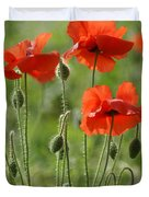 Bright Poppies 1 Duvet Cover
