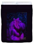 Bright Purple Cupid Duvet Cover