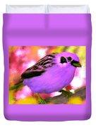 Bright Purple Finch Duvet Cover