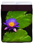Bright Purple Water Lilly Duvet Cover