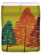Bright Trees Duvet Cover