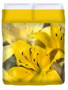 Bright Yellow Duvet Cover