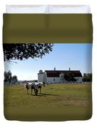 Brighton Barn And Horses Duvet Cover