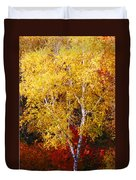 Brilliance Of Autumn On Rib Mountain Duvet Cover