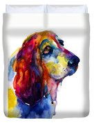 Brilliant Basset Hound Watercolor Painting Duvet Cover