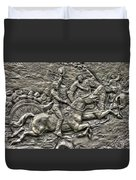 Bringing Up The Battery Detail-b 6th New York Independent Battery Horse Artillery Gettysburg Autumn Duvet Cover