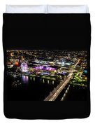 Brisbane South Bank From The 32nd Floor Duvet Cover