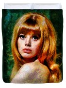 Brit Ekland - Abstract Expressionism Duvet Cover
