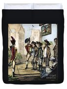 British Army, 1770s Duvet Cover
