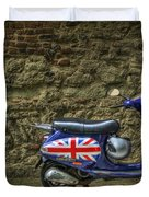 British At Heart Duvet Cover by Evelina Kremsdorf