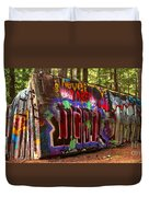 British Columbia Train Wreck Graffiti Duvet Cover