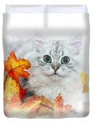 British Longhair Cat Duvet Cover