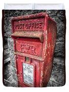 British Post Box Duvet Cover by Adrian Evans