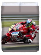 British Superbike Rider Barry Burrell   Duvet Cover
