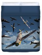 British Supermarine Spitfires Attacking Duvet Cover