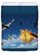 British Supermarine Spitfires Battle Duvet Cover