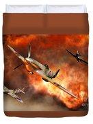 British Supermarine Spitfires Bursting Duvet Cover