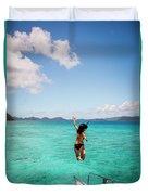 British Virgin Islands, Caribbean Duvet Cover