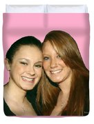 Brittany And Nicole Nutting Duvet Cover