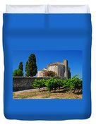 Brittany Vineyard And Monastery  Duvet Cover