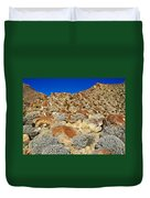Brittlebush Leaves And Santa Rosa Mountains From Borrego Palm Canyon In Anza-borrego Desert Sp-ca Duvet Cover